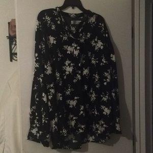 Plus Sz XXL NWOT long sleeve blouse